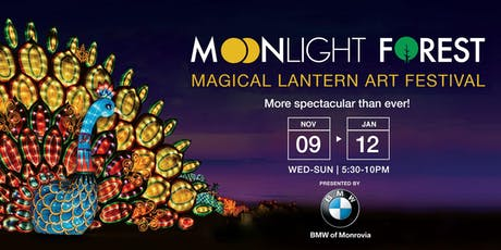 Moonlight Forest - Lantern Art Festival at the Los Angeles Arboretum | 2019 tickets