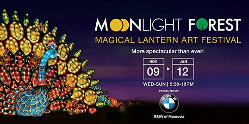 Moonlight Forest - Lantern Art Festival at the Los Angeles Arboretum | 2019