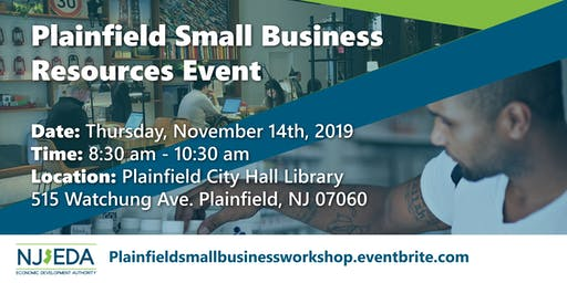 Plainfield Small Business Resources Event
