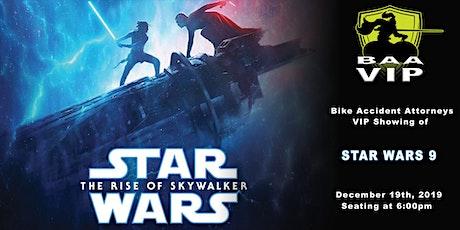 Bike Accident Attorneys VIP Showing of Star Wars tickets