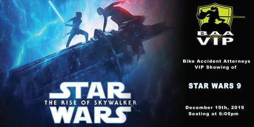 Bike Accident Attorneys VIP Showing of Star Wars