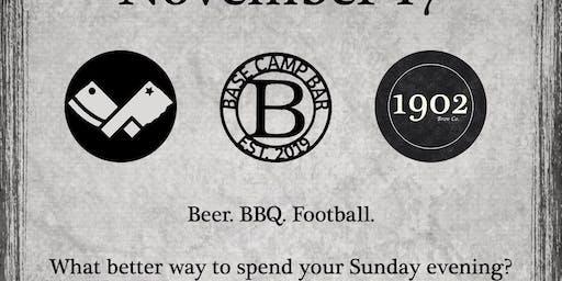 Beer, BBQ, Football.