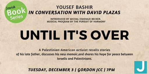 Jewish Book Series: Yousef Bashir, an Unlikely Peace Builder