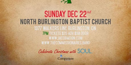 Jacob Moon and The Commissionaires: Welcome Christmas in Burlington tickets