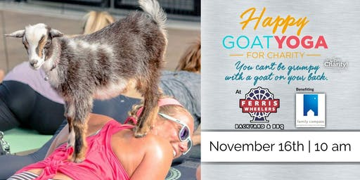 Happy Goat Yoga at Ferris Wheelers | Benefiting: Prevention of Child Abuse