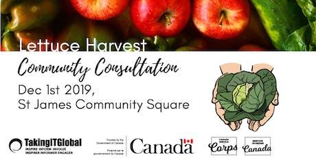 Lettuce Harvest Community Consultation tickets