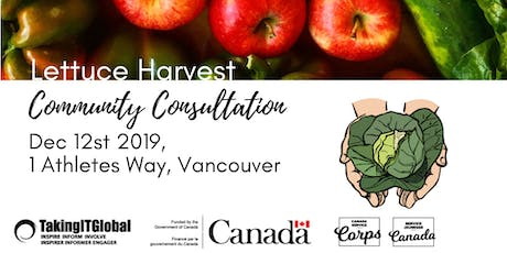 Lettuce Harvest Community Consultation tickets