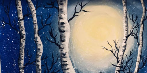Paint Night Winter Birch Trees- November 29 6-8
