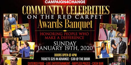 COMMUNITY CELEBRITIES ON THE RED CARPET AWARDS BANQUET tickets