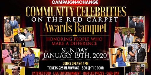 COMMUNITY CELEBRITIES ON THE RED CARPET AWARDS BANQUET