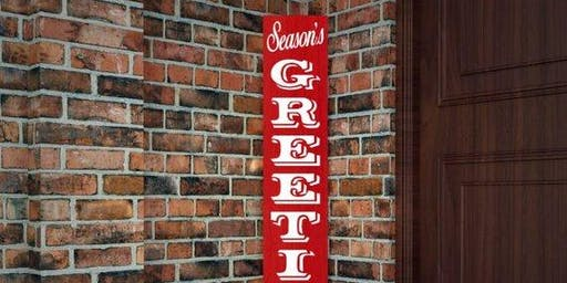 Vertical Holiday Sign~ choice of 3 designs ~ Wine & Wood- BYOB