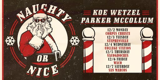 Parker McCollum and Koe Wetzel's Naughty or Nice Street Party