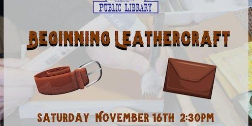 Beginning Leathercraft