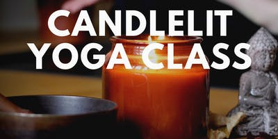 Yoga class - relaxing yoga by candlelight