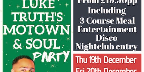 Luke Truth's Motown & Soul Party  tickets