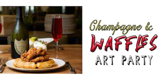Champagne & Waffles Art Party