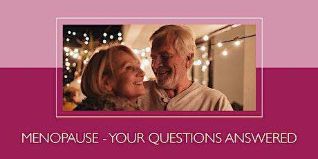 Free patient health talk: Menopause Q&A tickets