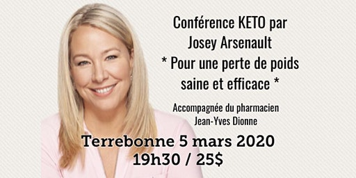 TERREBONNE - Conférence KETO - Pour une perte de poids saine et efficace!