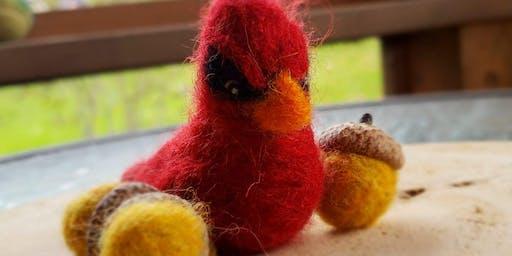 Needle Felting-Cardinal Ornament