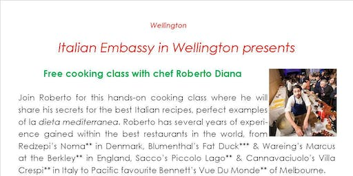 Cooking Class with Chef Roberto Diana in Wellington