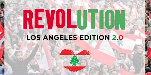 Lebanese Civil Protest Los Angeles