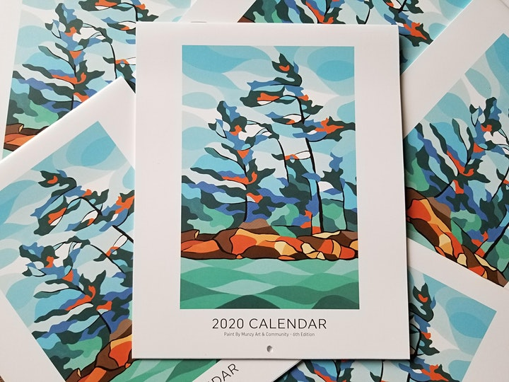 Paint By Munzy's Holiday Art Show & 2020 Calendar Launch image