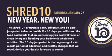 New Year, New You! Shred10 Event