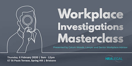 Workplace Investigations Masterclass tickets