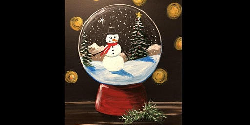 Banff snow globe Paint Night
