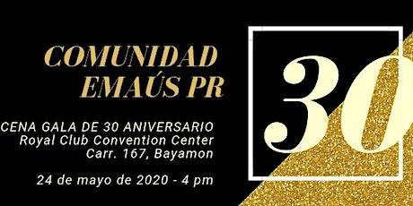 Cena Gala 30 Aniversario boletos