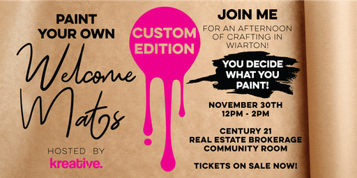 Paint Your Own Welcome Mat - Customized Edition  by kreative