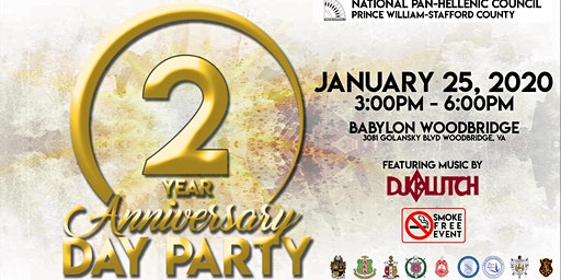 Prince William-Stafford NPHC 2nd Anniversary Day Party (SMOKE FREE)