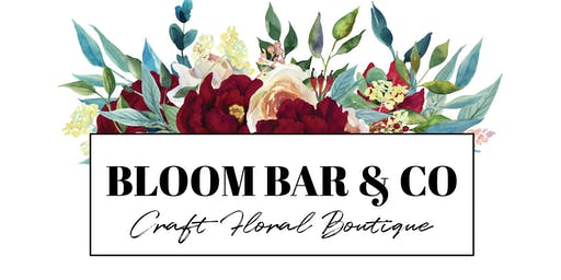 Holiday Floral Centerpiece Workshop at Bloom Bar & Co. 12/22