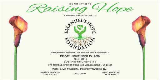 RAISING HOPE: A Fundraising Welcome to Emanuel's Hope Foundation