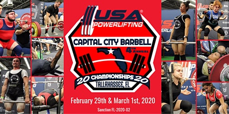 4th Annual USA Powerlifting Capital City Barbell Championships (FL-2020-02) tickets