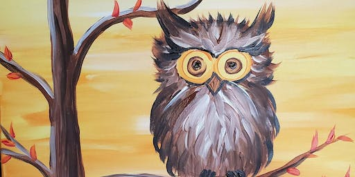 "Paint night at Chester's Pub  ""Fall Owl"""