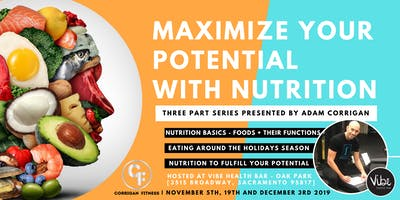 Maximize your Potential with Nutrition - Presented by Adam Corrigan