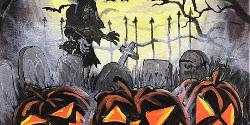 'Pumpkins in the Moonlight' Paint and Sip Event