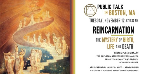 """Public Talk in Boston - """"Reincarnation - The Mystery of Birth, Life and Death"""""""