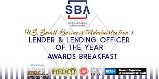 2019 SBA Lender and Lending Officer of the Year Awards