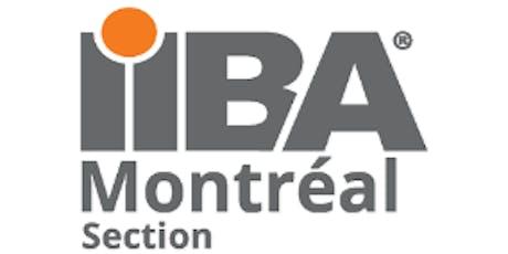 Session d'information sur les certifications de l'IIBA billets