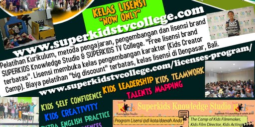 Pelatihan lisensi superkids knowledge studio *(kids character development)