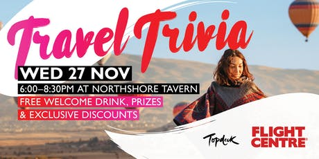 Travel Trivia! Hosted by Flight Centre Whitfords Tailor Made tickets