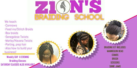 ZION'S BRAIDING CLASS HOUSTON  tickets