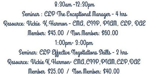CLP Seminars: The Exceptional Manager & Effective Negotiations Skills