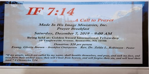 Made In His Image Ministries, Inc. (MIHI) Prayer Breakfast