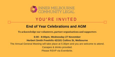 End of Year Celebration and AGM tickets