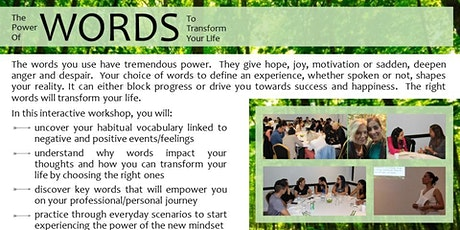 Workshop: The Power of Words to Transform Your Life tickets
