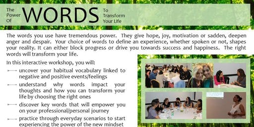 Workshop: The Power of Words to Transform Your Life
