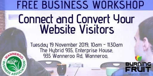 Free Business Event - Connect and Convert Your Website Visitors